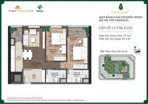 Mặt bàng căn hộ điển hình dự án The Emerald
