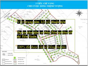 3 chỉ tiêu vàng Dự án Hola Town 2 Hòa Lạc - Đất nền