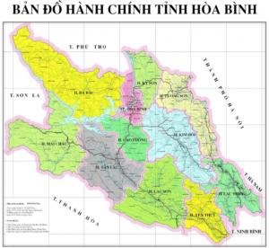 Bản đồ tỉnh Hòa Bình Dự án Green Oasis