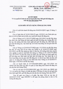 Quyết định của sở XD Quảng Ninh về ủy quyền tổ chức kỳ thi sát hạch kiến thức môi giới bất động sản trên địa bàn tỉnh Quảng Ninh