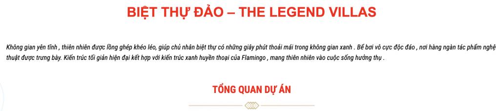 Biệt thự đảo - The legend villas