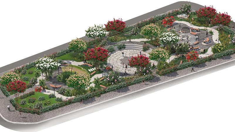 khu cong vien chinh Dự án The Eden Rose