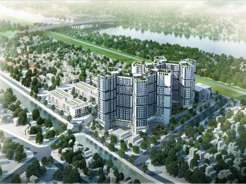 599841c702cc66bcab1ca71cc8abe020 Hà Nội duyệt quy hoạch 1/500 Tổ hợp công trình công cộng, trường học và nhà ở Đức Giang