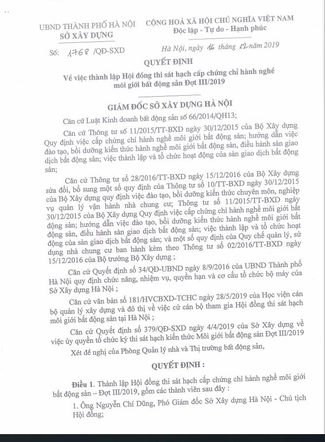 QD uy quyen cua So XD Ha Noi nam 2019 0912167788 QĐ ỦY QUYỀN CỦA SỞ XÂY DỰNG HÀ NỘI NĂM 2019